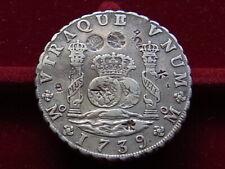 Mexico. 1739-MF 8 Reales - Pillar Dollar..  Many chop marks..  VF
