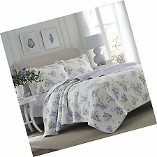 Laura Ashley 221052 Keighley King Size Quilt Set - Purple