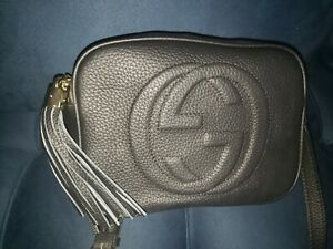 GUCCI Soho Disco Crossbody Black Leather BAG PURSE Retail $1200