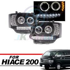 COB Angel-Eye DRL LED Projector Headlights Lamp For TOYOTA Hiace Van 2011-2013