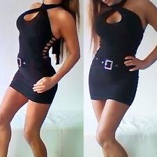 sexy Bondgirl schwarzes Sexy Kleid schwarz hot Mini Dress
