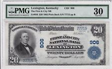 Lexington, KY - $20 1902 1st and City Nat. Bank of Lex / PMG VF30 -Ch. 906