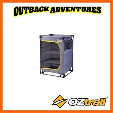 OZTRAIL FOLDING 3 SHELF CUPBOARD CAMPING STORAGE - FSU-CC3-C