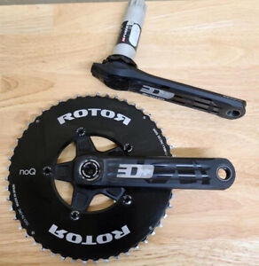 ROTOR X INPOWER 3D+ Power Meter Crankset 155mm 52/36T NoQ