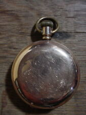 KEYSTONE WATCH CO. Antique  GOLD POCKET WATCH with Fancy Hunting Case