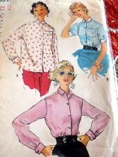 *LOVELY VTG 1950s SHIRT Sewing Pattern 12/30
