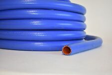 """1"""" ID Blue Silicone Radiator Heater Hose, Reinforced, 25.4mm,   SOLD BY THE FOOT"""