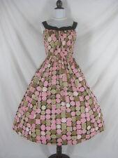 Vtg 40s 50s Brigance Sportsmaker Novelty Cookies Vintage Full Skirt Party Dress