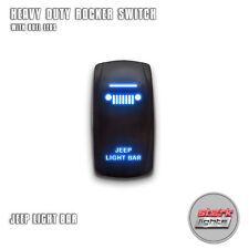 BLUE Laser Etched LED Rocker Switch Dual Light 20A ON OFF - For JEEP LIGHT BAR