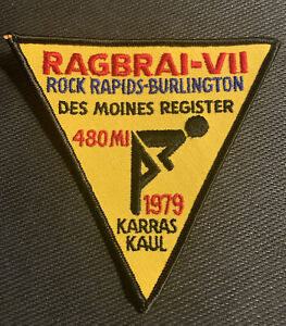 1979 RAGBRAI VII Sew on Patch Des Moines Iowa Cycling Biking - Free Shipping
