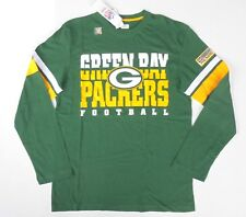 Men's Green Bay Packers NFL retro style long sleeve graphic shirt sz M NEW!