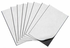 "100 Self Adhesive Flexible Magnetic Sheets Wallet size, USA 2"" x 3""- FREE ship"