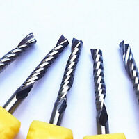 5pc Single Blade Aluminium Cutting Single Flute CNC Router Bits 3.175*3.175*17mm