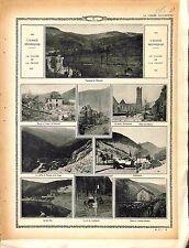 Alsace Vallée de la Fecht Ruines Metzeral Steinbrück Eglise de Sültzern 1915 WWI