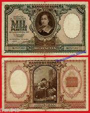 ESPAÑA SPAIN 1000 Pesetas 1940 Murillo Pick 120 BC- / VG
