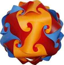 Kit de sombra Luz Linterna De Techo Pantalla De Puzzle Retro 25 Cm Rojo/Naranja/azul de cielo