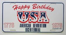 HAPPY BIRTHDAY USA 1976 AMERICAN REVOLUTION BICENTENNIAL BOOSTER License Plate