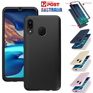 For Samsung Galaxy A20 A30 A50 A70 Case Slim Shockproof Cover w/Screen Protector
