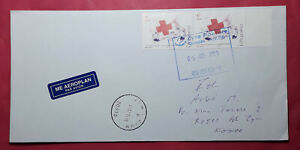 Albania 2015 cover sent from Kukes to ZYM (Kosovo), stamp Red Cross, RARE