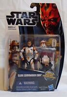 STAR WARS TCW CLONE COMMANDER CODY CW7 GALACTIC BATTLE GAME MOSC ACTION FIGURE