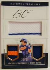 GAVIN CECCHINI AUTO 3 COLOR RELIC 71/99 PANINI NATIONAL TREASURES 2017