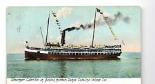 Steamer Cabrillo in Avalon Harbor Santa Catalina Island Postcard circa1910