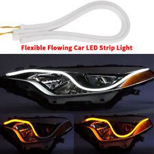 2X60CM  Car LED Strip DIY Flexible Flowing DC 12V DRL turn signal lamp DIY shape
