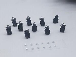 10 X O Gauge Head Lamps Model Railway Black 005