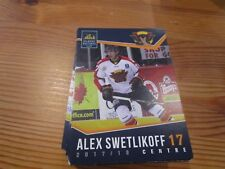 2017-18 VERNON VIPERS ALEX SWETLIKOFF BCHL SINGLE PLAYER CARD