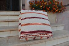 moroccan handmade pouf of natural vintage wool best quality for home decor