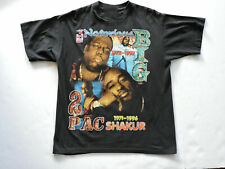 90s 2PAC Tupac Biggie Notorious BIG Rap Hip Hop Black T-Shirt All Size M1083