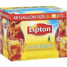 ((LOW STOCK)) LIPTON ICED TEA BAGS GALLON FAMILY SIZE, UNSWEETENED, (48 BAGS)