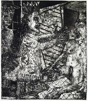 DDR-Kunst/Leipziger Schule 1985 Aquatinta Werner LIEBMANN (*1951 D) handsigniert