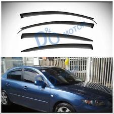 4pcs Smoke Sun/Rain Guard Vent Shade Window Visor Fit 04-09 Mazda 3 4-Door Sedan