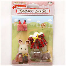Sylvanian Families Fashionable collection Girl's dress (red) D-24 JAPAN
