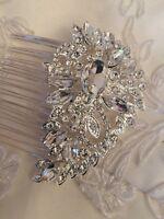 Diamanté Crystal Teardrop Prom Wedding Bridal Bridesmaid Hair Comb Accessories
