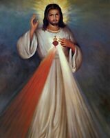 """Catholic picture print JESUS DIVINE MERCY   8"""" x 10"""" ready to be framed"""
