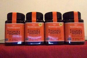 Wedderspoon * 100% Raw Manuka Honey * Kfactor 16+ 17.6 oz 500 gr each 4 jars