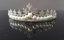 Kleidung & Accessoires Perle Tiara Haarschmuck Kristall Diadem Hochzeit Braut Prinzessin Krone Ok01