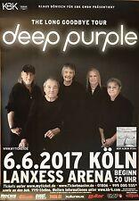 Deep PURPLE 2017 Colonia-ORIG. CONCERT POSTER -- manifesto concerto a1 NUOVO