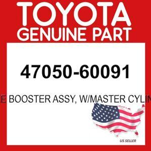 TOYOTA GENUINE 47050-60091 BRAKE BOOSTER ASSY, W/MASTER CYLINDER OEM
