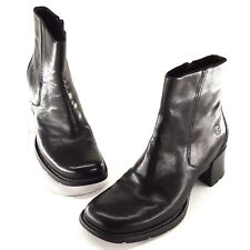 Timberland Womens Boots 9 M Alyse Ankle Booties Black Leather Heels Zipper 62317