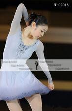 Figure Skating Competition Dress Ice Skating Training Dress Girl Costume Grey