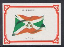 Monty Gum 1980 Flags Cards - Card No 18 - Burundi  (T612)