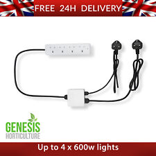 More details for hyplerlux 4 way 13amp contactor relay for grow light hydroponics