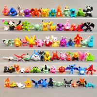 24Pcs Set Pokemon Go Action Figures Model Toys Pikachu Anime Child Birthday Gift