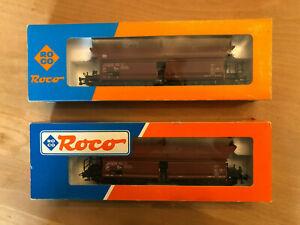 Roco 46250,   2 Stk. Selbstentladewagen, 6-achsig