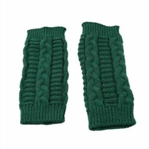 Gloves Knitted Long Hand Warm Paisley Embroider Winter Fingerless Women Fashion