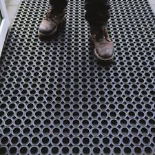 OLIVO.shop - ROBUST Zerbino in gomma antiscivolo a griglia da esterno + misure