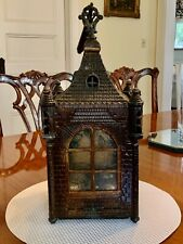 Rare Antique Cast Iron Architectural Caste Hall Lantern Chandelier
